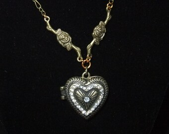 Jeweled Heart Locket
