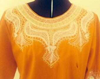 Vintage Caftan Dress Boho 60s