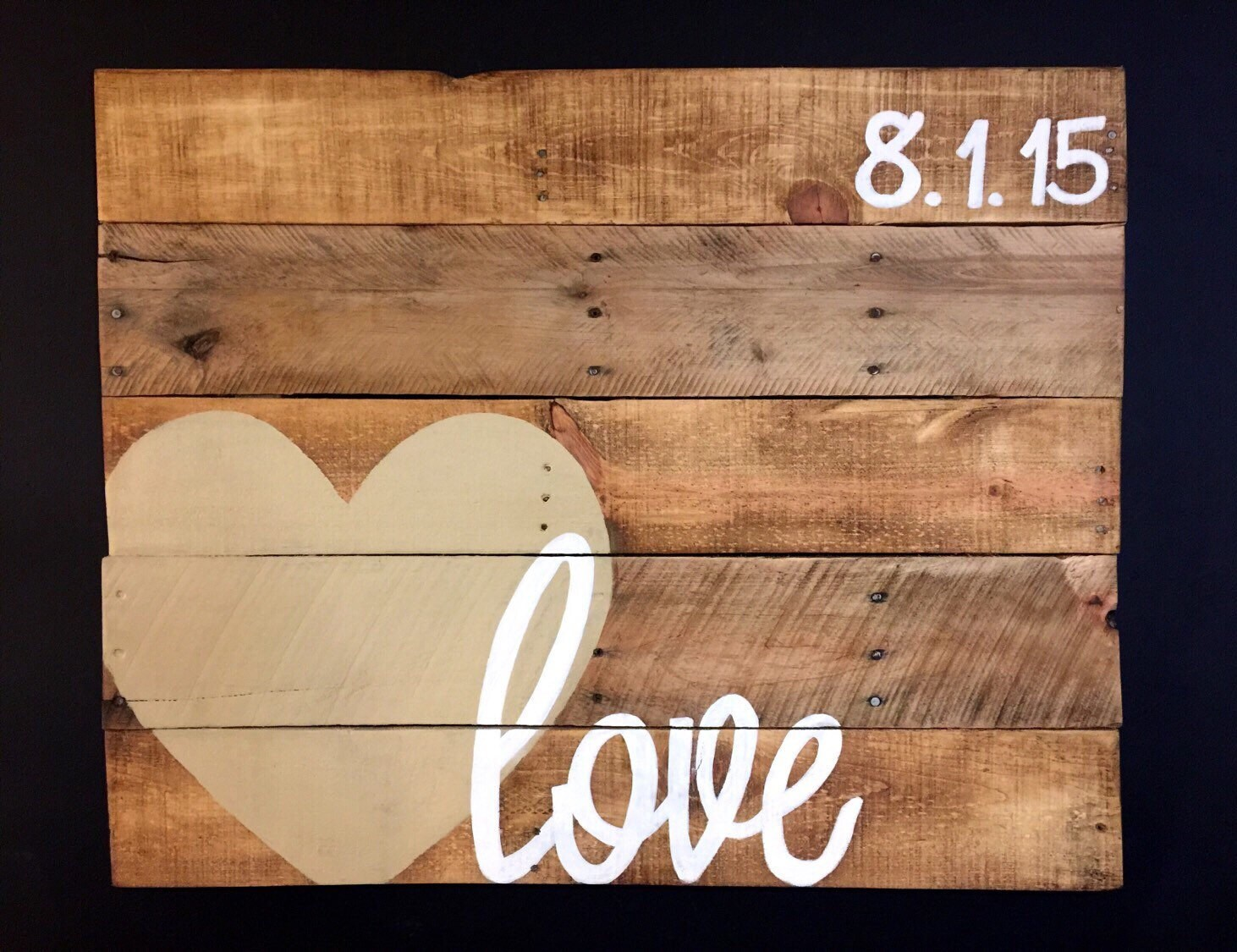 Wood love sign wood wedding guest book by palletsandpaint for Love sign
