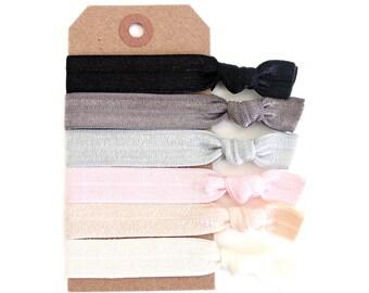 BALLET CLASS Elastic Hair Ties, Ponytail Holders, Stretchy Ribbon Hair Ties, Elastic Hair Accessories, Yoga Hair Ties, Boho