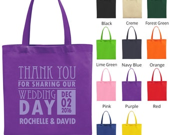 Wedding Favor Tote Bags (C1557) Thank You For Coming - Wedding Favors - Personalized Bags - Custom Tote Bags - Wedding Bags