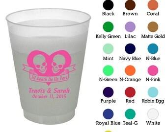10 oz Shatterproof Plastic Cups (Clipart 1752) Til Death Do Us Part - Wedding Favors - Custom Wedding Cups - Personalized Cups