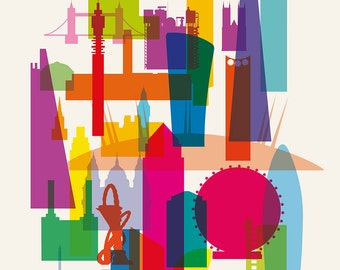 LONDON ARCHITECTURE limited edition art print