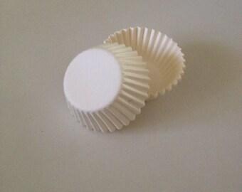 Mini White Cupcake Liners