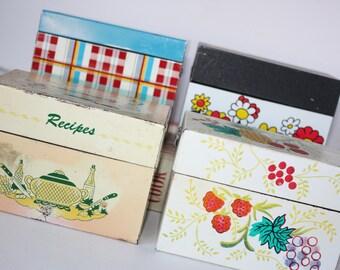 ON HOLD Vintage Recipe Box-Recipe Card Box-Recipe Organizer-Kitchen Storage-Metal Recipe Box-Housewares-Recipe Box-Storage Box