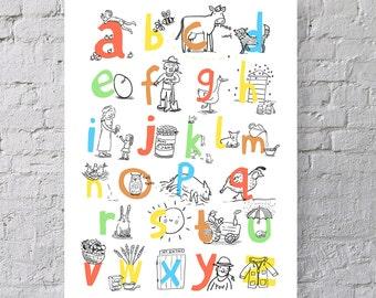 ABC Farm Themed Print