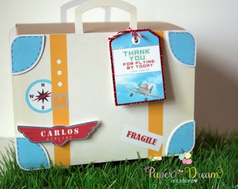 Suitcase favor box,  luggage box , luggage favor box
