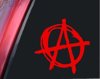 "Anarchy Symbol 5"" Vinyl Decal Widow Sticker for Car, Truck, Motorcycle, Laptop, Ipad, Window, Wall, ETC"