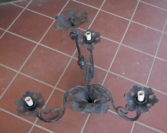 Artisan Wrought iron chandelier