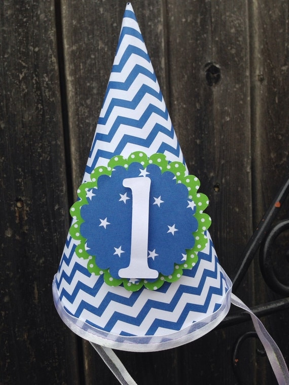 Party Hat, Boys First Birthday Party Hat,