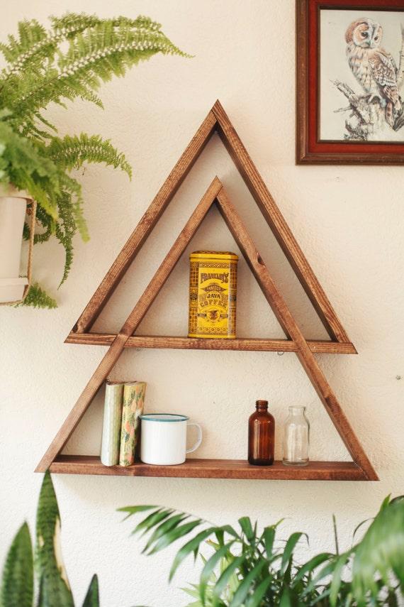 Stacked Triangle Shelf Geometric Shelf By Darkmarqueedesigns