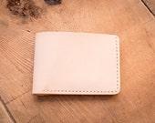Mens Leather Wallet, Mens Leather, Bifold Wallet, Minimal Leather Wallet, Personalized Monogram Custom, Veg Tan 4 Card