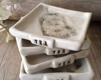 Square Teabag & Spoon Rest