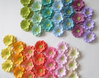 100 Plantable Seed Paper Wedding Favors - Rainbow Roses Embedded with Flower Seeds - Seeded Paper Flowers