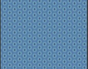 One Yard - 1 Yard of Oval Elements Sapphire - Art Gallery Fabrics