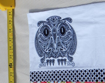 Owl Embroidered Pillowcase