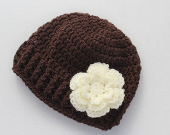 Crochet baby hat, baby girl hat, crochet baby beanie, girl winter hat, infant hat, crochet beanie, baby beanie, baby hat, baby girl crochet