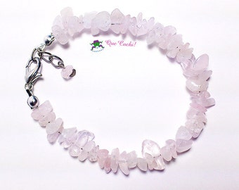 baroque bracelet with pink Quartz.