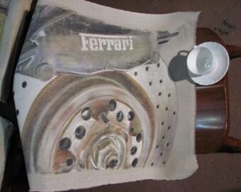 Drawing of a Ferrari disc brake and caliper