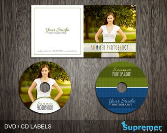 Summer CD Cover Template - cd Label Template - dvd Cover Template PSD - dvd Label Template - cd Case Photoshop PSD Template CD006