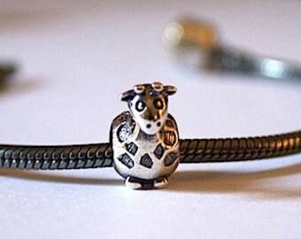 925 Sterling Silver GIRAFFE Africa Safari Charm Animal Bead - BD4273