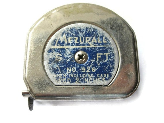 Lufkin Mezurall No 926 Tape Measure 6 Ft Vintage Tape