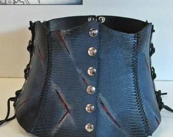 Tall corset style belt -  Dragon