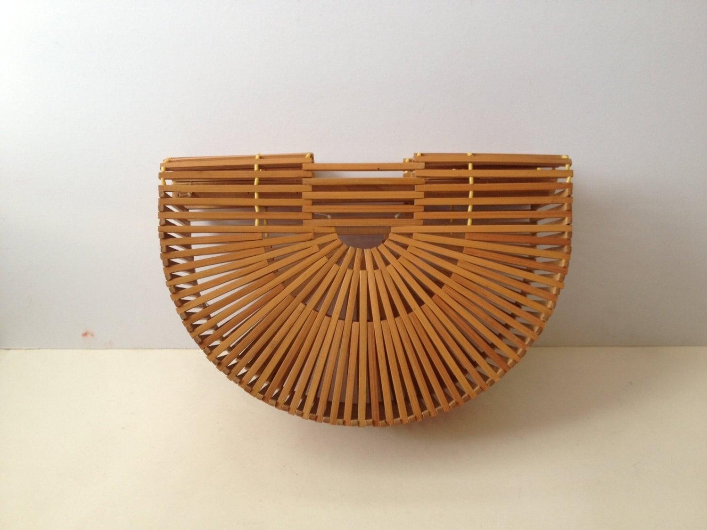 Vintage 50 S Bamboo Handbag 50 S Purse 50 S