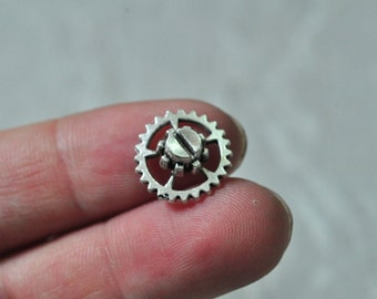 30pcs Antique Silver Gear Charm Pendant Mechanical Watch Movement 15mm K725
