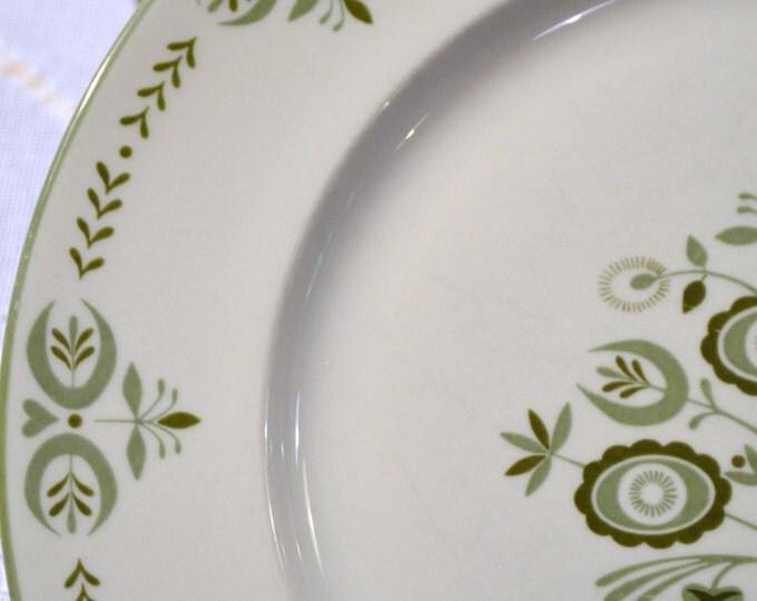 Franciscan China Heritage Pattern Dinner Plate Set of 7 White Green PanchosPorch