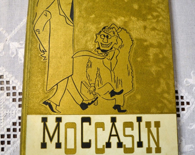 Yearbook University of Chattanooga 1959 Moccasin Vintage Used Book Craft Supplies Vintage Decor PanchosPorch