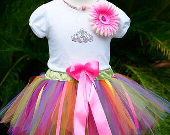 Hawaiian Baby Girl 1st Birthday Outfit/ 1st Birthday Tutu/ Birthday Outfit