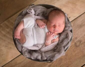 Newborn Shortie Overalls - PDF KNIT PATTERN -  knitting, pattern, knit romper, overalls, newborn, knit overalls, baby overalls