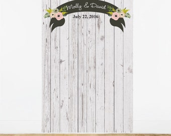 Rustic Chic Personalized Photo Booth Backdrop (ENWF-JM535347)