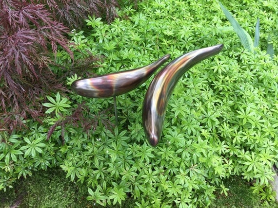 Koi sculpture stainless steel garden fish handmade welded for Koi fish metal art