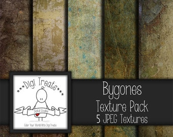 "5 Digital Textures, Bygones Textures, JPEG, Photography Textures, Scrapbook Paper, Backgrounds, 12""x12"" *Instant Download*"