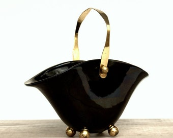Black Decorative Bowl, Black Bowl, Black Decor, Vintage Black Bowl, Jewelry Holder, Gifts for Her, Home Decor, Bedroom Decor