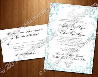 Wedding Invitation and RSVP Set