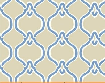 One Yard Serena - Damask in Tan - Cotton Quilt Fabric - Windham Fabrics 37384-2 (W2639)