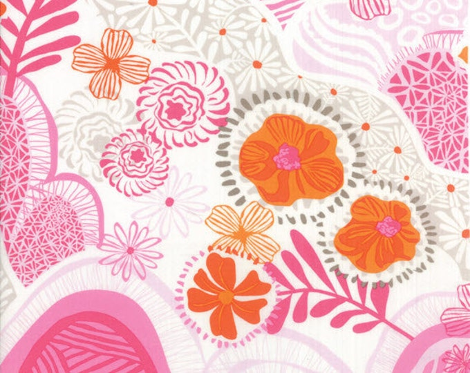 One Yard Daydreams - Hills Valleys in Rose Pink / Orange - Cotton Quilt Fabric - designed by Kate Spain for Moda Fabrics - 27171-13 (W2800)