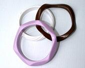 ON SALE 30% OFF Vintage 1960's Heavy Plastic Bangles, Set of Three