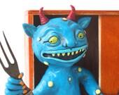 Monster in My Closet Original polymer clay folk art sculpture