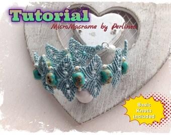 Micro Macrame Tutorial DIY  Flower Bracelet Beaded Macrame