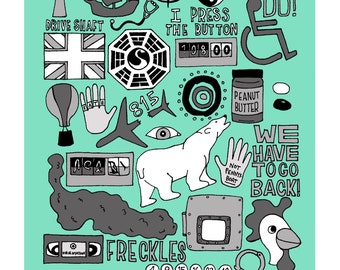 Lost (TV) Collage Print (8x10 or 11x14) *Great gift for guys!*