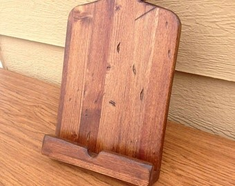 iPad Stand, Tablet Stand, Wooden Tablet Holder, Cutting Board Tablet Holder