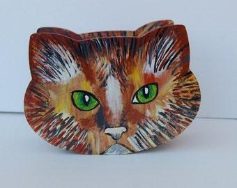 Coin Bank.Hand Made.Gift Idea for Cat Lovers.Cat piggy bank.Money Box