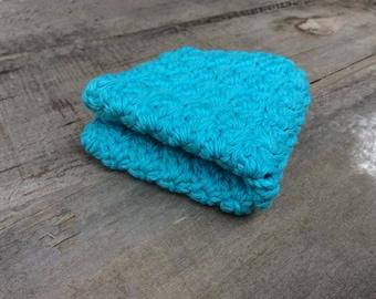 Blueberry Cotton Crochet Dishcloth