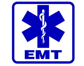EMT Decal - EMT Response Sticker - Emergency Medical Technician Decal - First Responder Decal - Paramedic Sticker