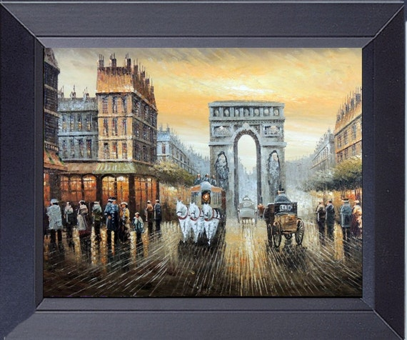 Arc de triomphe paris france on canvas framed by for Arc de triomphe wall mural