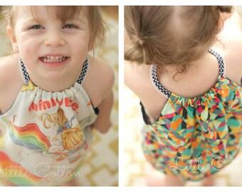 Beach Baby Romper - girls' baby romper - PDF pattern